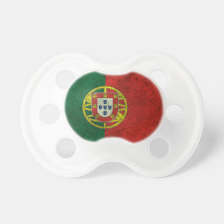 Portuguese Flag Aged Steel Effect Pacifier