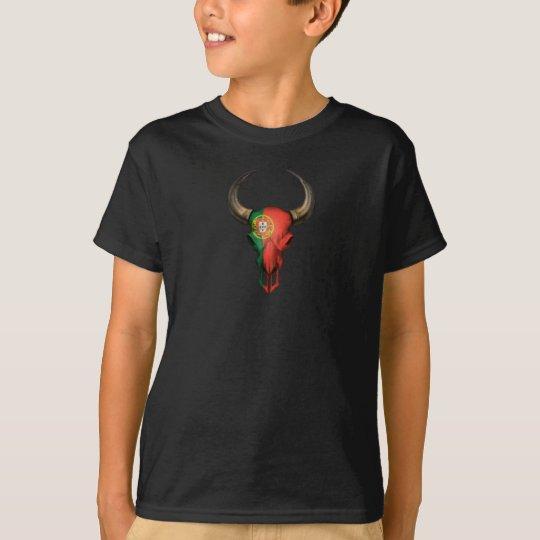 Portuguese Flag Bull Skull T-Shirt