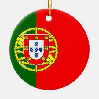 Portuguese flag custom Christmas tree ornament