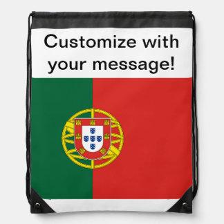 Portuguese Flag Drawstring Bag