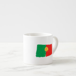 Portuguese Flag 6 Oz Ceramic Espresso Cup