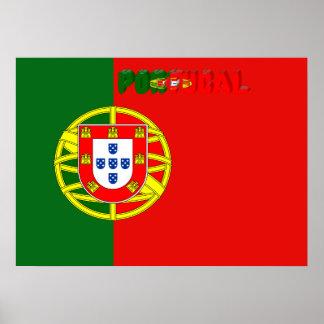 Portuguese flag poster