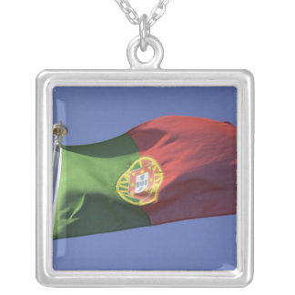 Portuguese Flag RF) Silver Plated Necklace