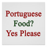 Portuguese Food Yes Please Poster