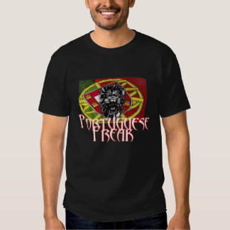 Portuguese Freak with Flag T Shirt