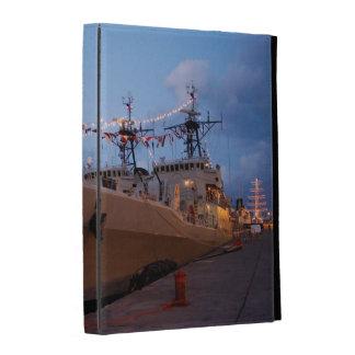 Portuguese frigates at twilight iPad case