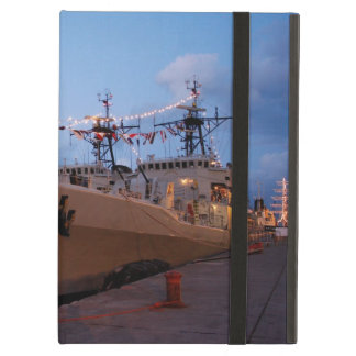 Portuguese frigates at twilight cover for iPad air