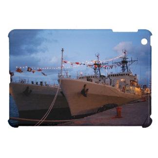 Portuguese frigates at twilight iPad mini case