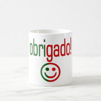 Portuguese Gifts Thank You Obrigado + Smiley Face Coffee Mug
