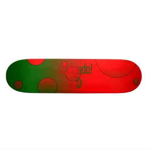 Portuguese Gifts Thank You Obrigado + Smiley Face Skateboard Decks