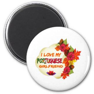 Portuguese Girlfriend designs 6 Cm Round Magnet