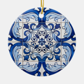 Portuguese Glazed Tiles Christmas Ornament