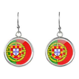 Portuguese glossy flag earrings