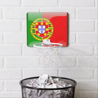 Portuguese glossy flag mini basketball hoop