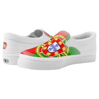 Portuguese glossy flag slip on shoes