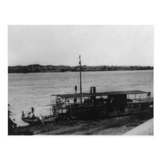 Portuguese gunboat Tete Mozambique Postcard