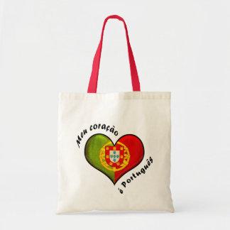 Portuguese heart tote bag