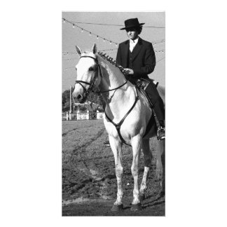 Portuguese horse rider personalised photo card