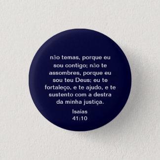 Portuguese Isaiah 41:10 3 Cm Round Badge