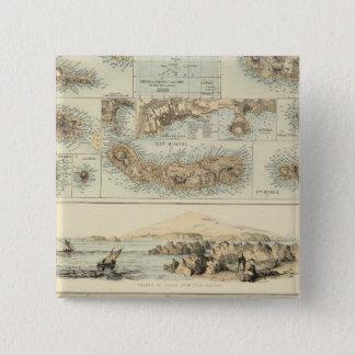 Portuguese Islands in the Atlantic Ocean 15 Cm Square Badge