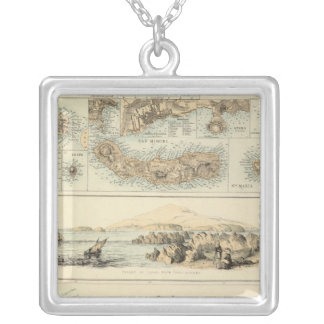 Portuguese Islands in the Atlantic Ocean Silver Plated Necklace