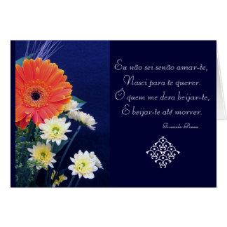 Portuguese: Love poem São Valentim Greeting Card