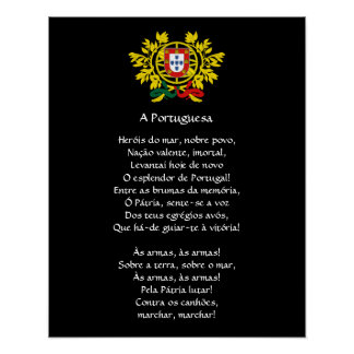 Portuguese* National Anthem Poster