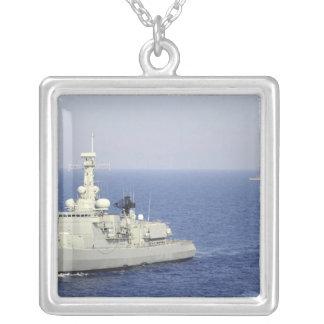 Portuguese navy frigate NRP Bartolomeu Dias Silver Plated Necklace