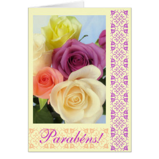 Portuguese: Parabens! Happy Birthday! Card