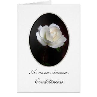 Portuguese: Pesames/ Condolencias Card