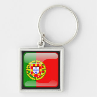 Portuguese polished flag key ring