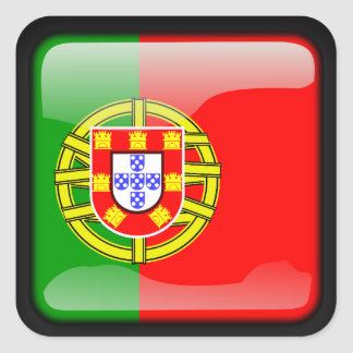 Portuguese polished square sticker