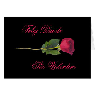 Portuguese red rose-Valentine s day Greeting Card