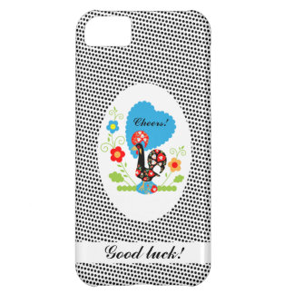 Portuguese Rooster iPhone 5 Case with Polka Dots