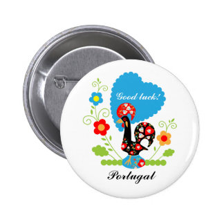 Portuguese Rooster of Luck 6 Cm Round Badge
