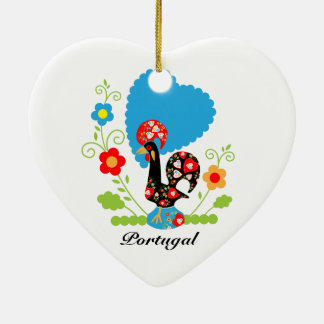 Portuguese Rooster of Luck Christmas Ornament