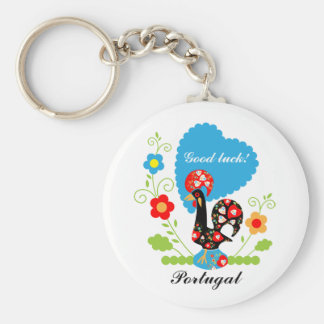 Portuguese Rooster of Luck Key Ring