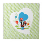 Portuguese Rooster of Luck Tile