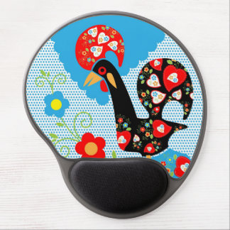 Portuguese Rooster Symbol Gel Mouse Mat