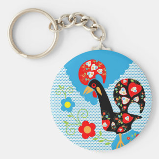Portuguese Rooster symbol of Portugal Key Ring
