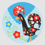 Portuguese Rooster symbol of Portugal Round Stickers
