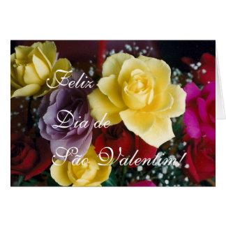 Portuguese: Rosas para o Dia de Sao Valentim! Card