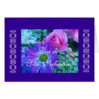 Portuguese: rosas para São Valentim Greeting Card
