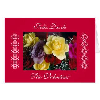 Portuguese rosas - Valentine s day Card