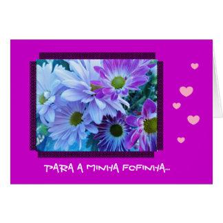 Portuguese: Sao Valentim/ amor Greeting Cards