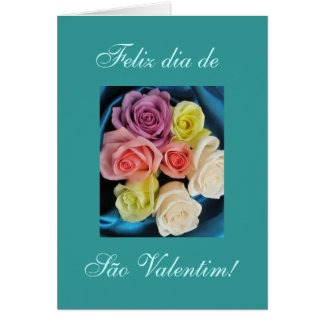 Portuguese: São Valentim -teal Greeting Card