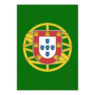 Portuguese shield 13 cm x 18 cm invitation card