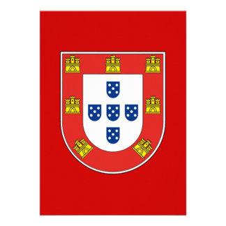 Portuguese shield custom invitations