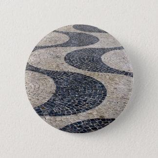 Portuguese sidewalk 6 cm round badge