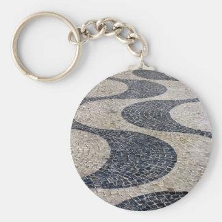Portuguese sidewalk key ring